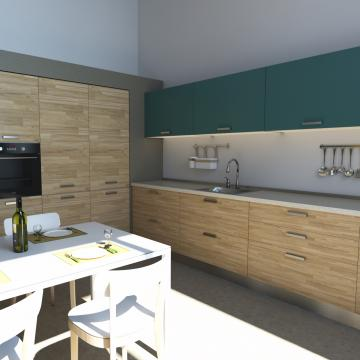 Rendering appartamento più piccolo_Cucina