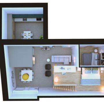 Pianta appartamento più piccolo_Soppalco