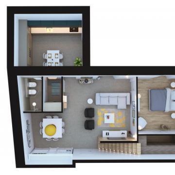 Pianta appartamento più piccolo