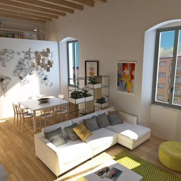 Rendering appartamento più grande_Soggiorno