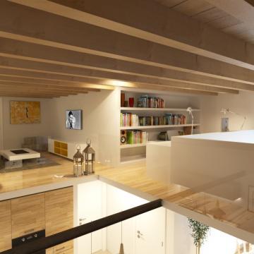 Rendering appartamento più grande_Soppalco