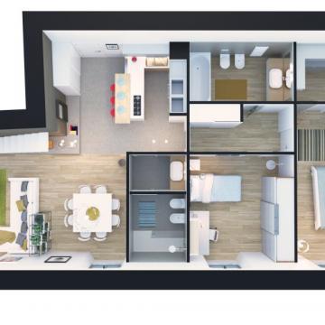 Pianta appartamento grande
