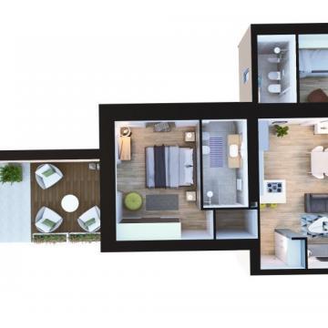 Pianta appartamento al piano terra